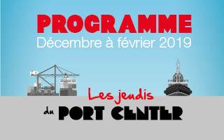 Téléchargez la programmation des Jeudis du Port Center de décembre 2018 à février 2019