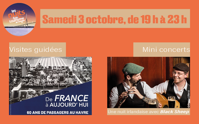 Nuits du tourisme, samedi 3 octobre 2020 de 19h à 23h